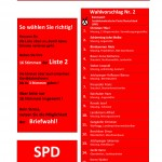Stimmzettel SPD Massing